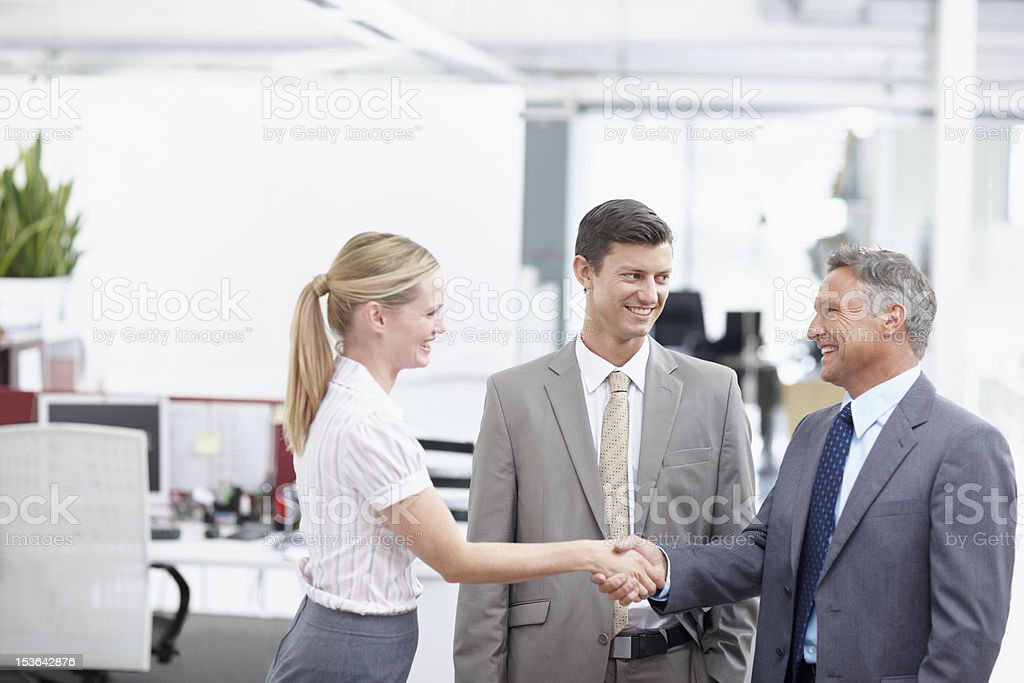 I'm so happy to be working with you! stock photo