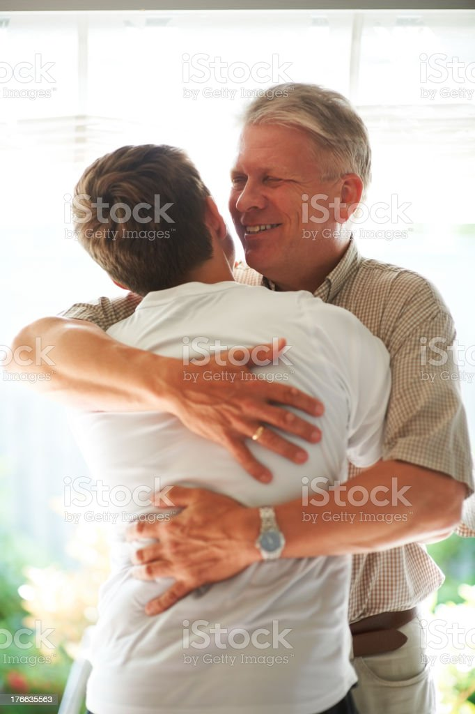 I'm so proud of my grandson! royalty-free stock photo