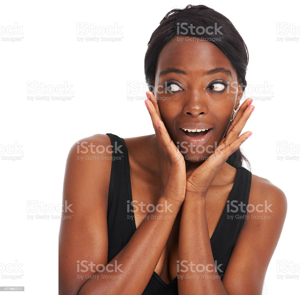I'm so surprised right now! royalty-free stock photo