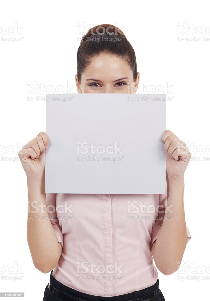 I'm speechless over your idea! stock photo