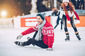 I'm still learning how to skating on ice