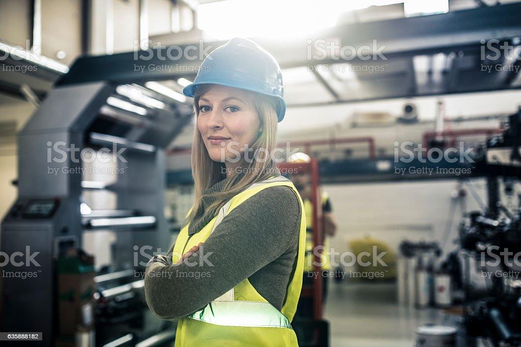 I'm the boss at this construction site stock photo