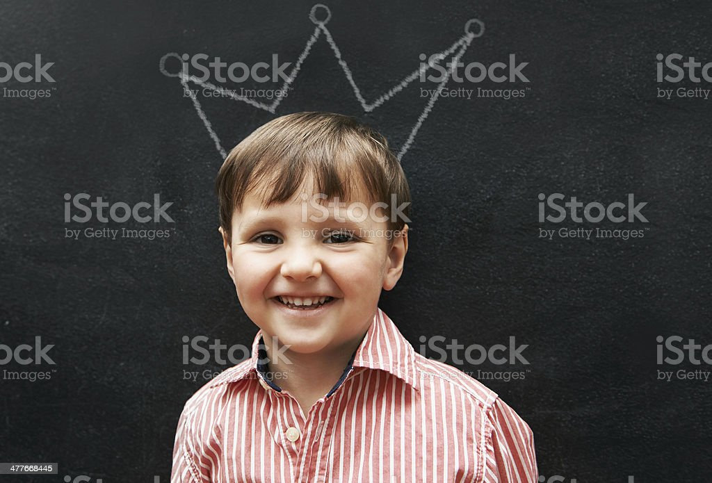 I'm the king of this class royalty-free stock photo