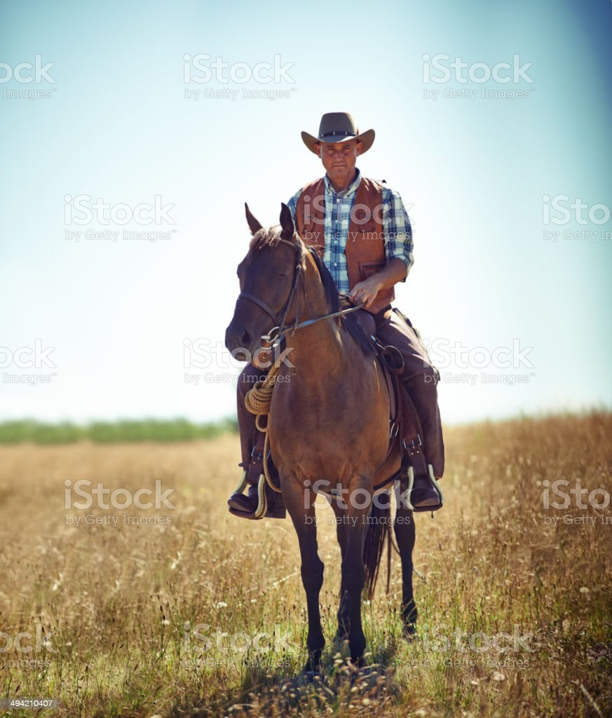 I'm the law 'round these parts stock photo