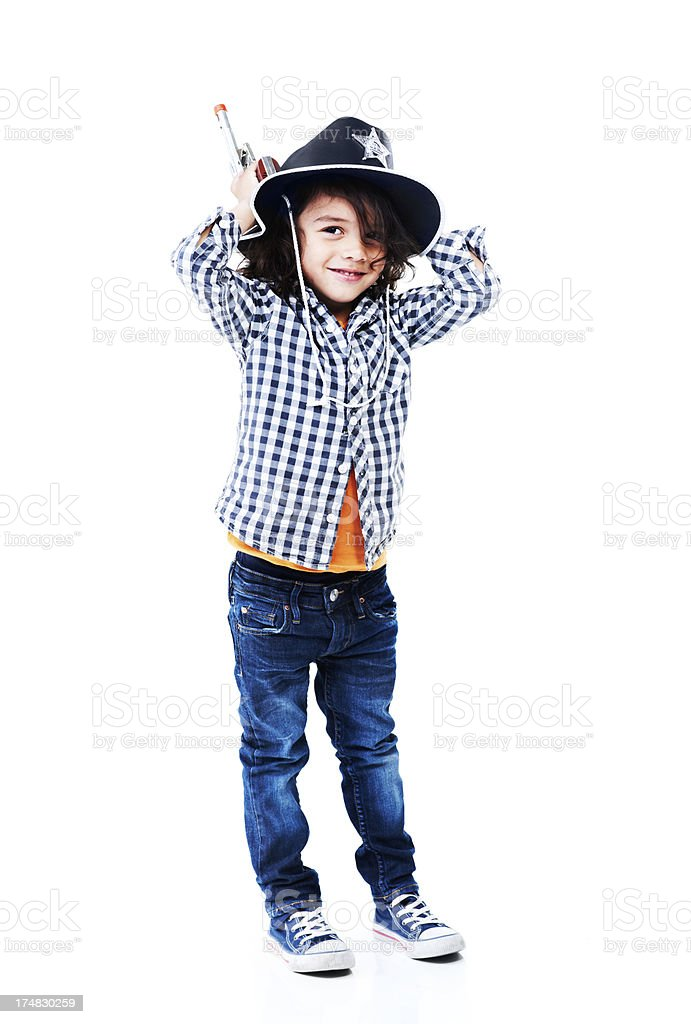 I'm the new sheriff in town royalty-free stock photo