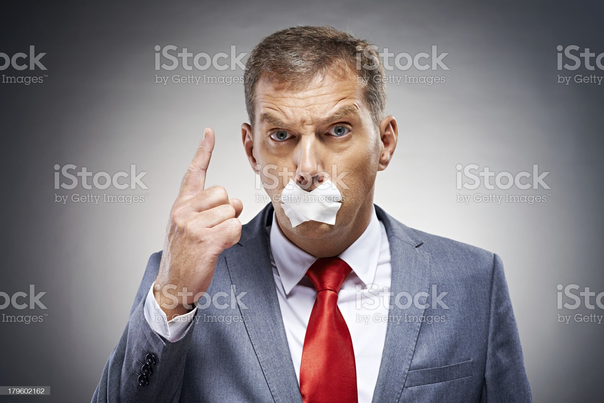 I'm totally forbidden to speak about this! royalty-free stock photo