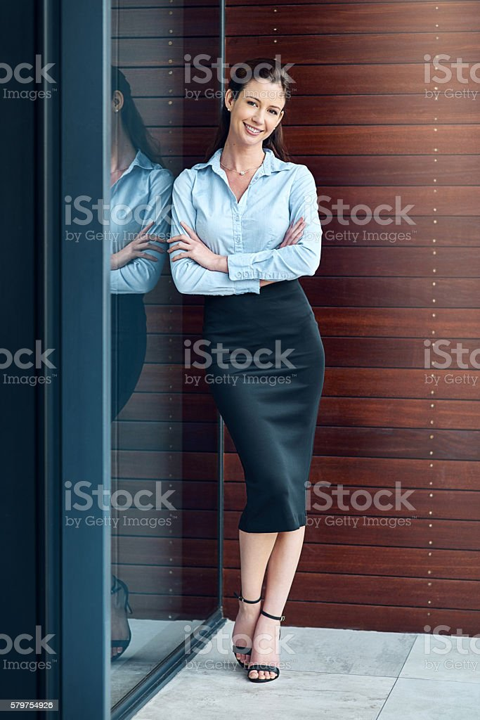 I'm tough, ambitious, and I know exactly what I want stock photo