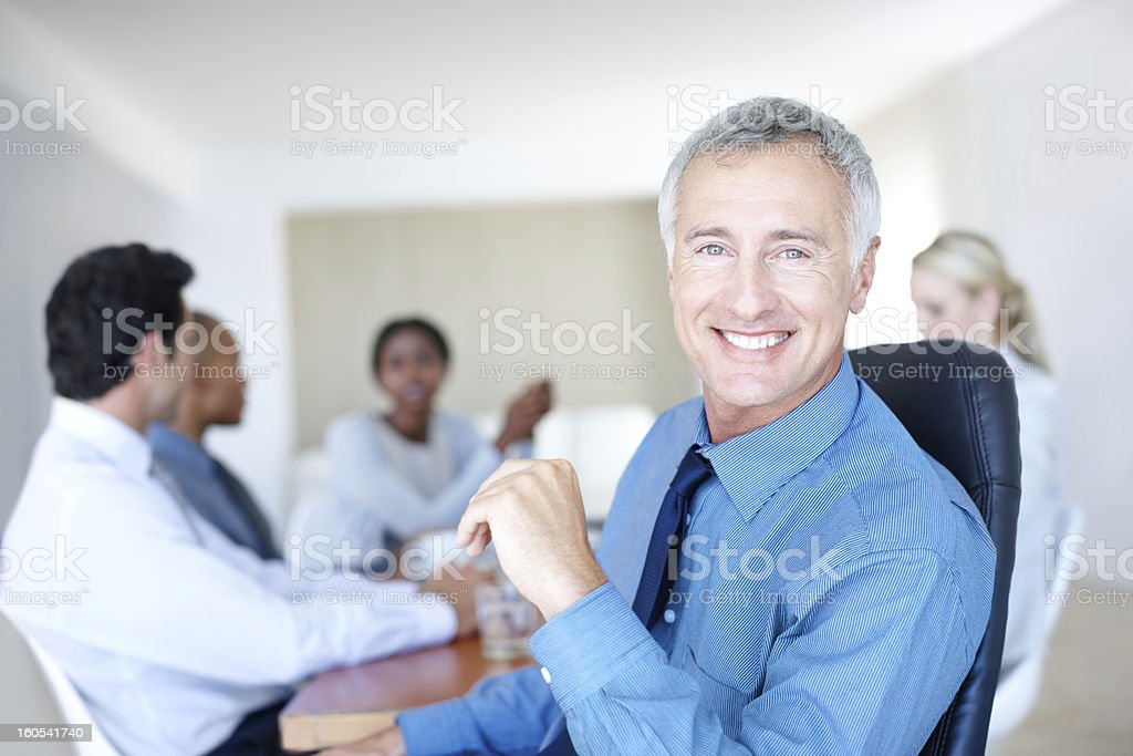 I'm very happy with my employees royalty-free stock photo