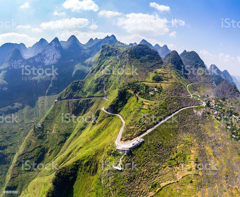 Ma Pi Leng mountain pass in Dong Van, Hagiang, Vietnam stock photo