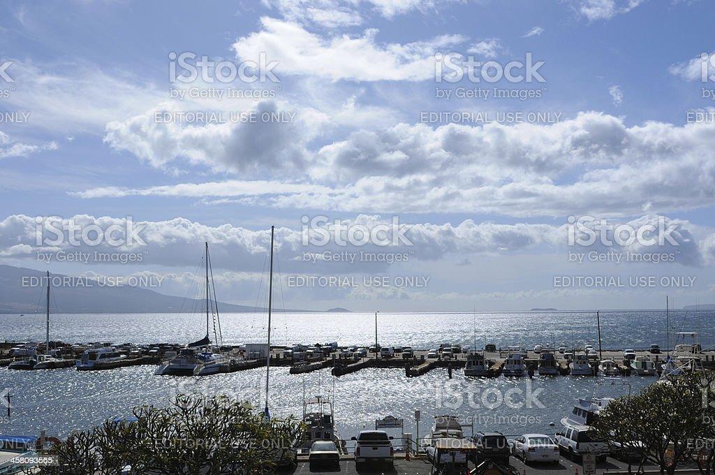 Ma'alaea harbor stock photo