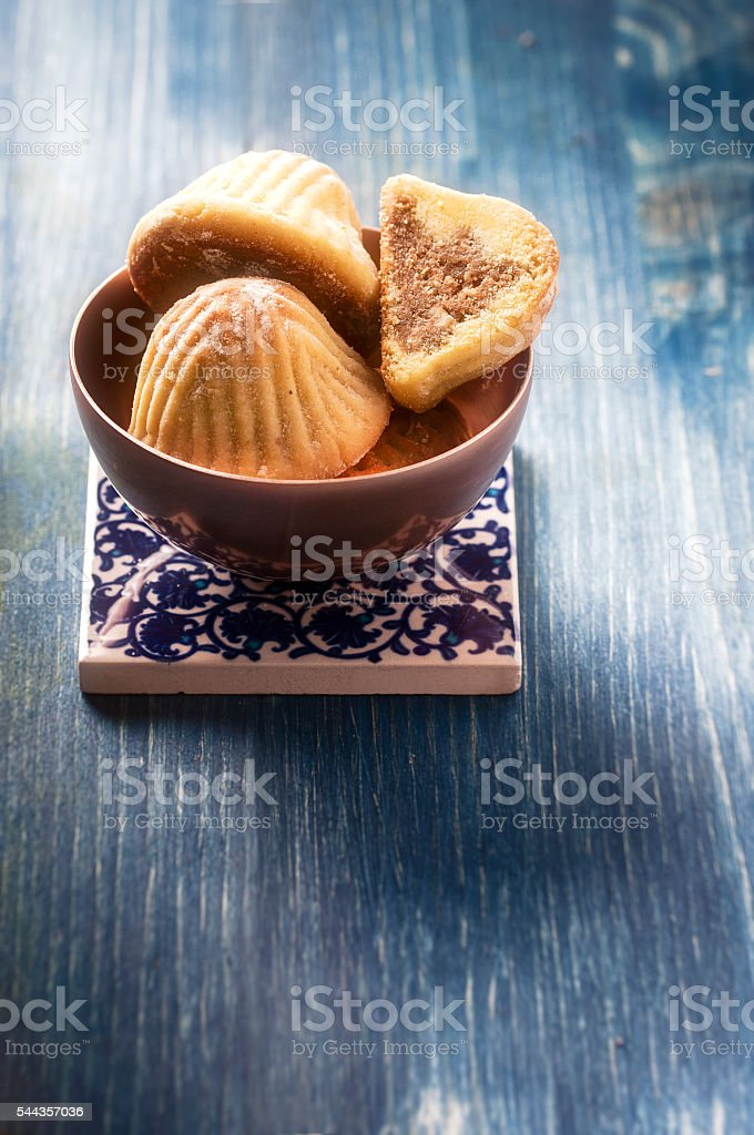 Ma'amoul filled with dates stock photo