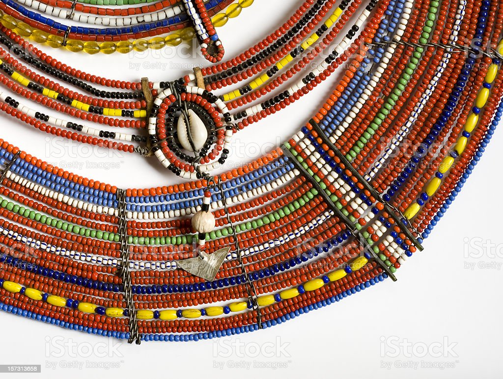 Maasai Beads stock photo