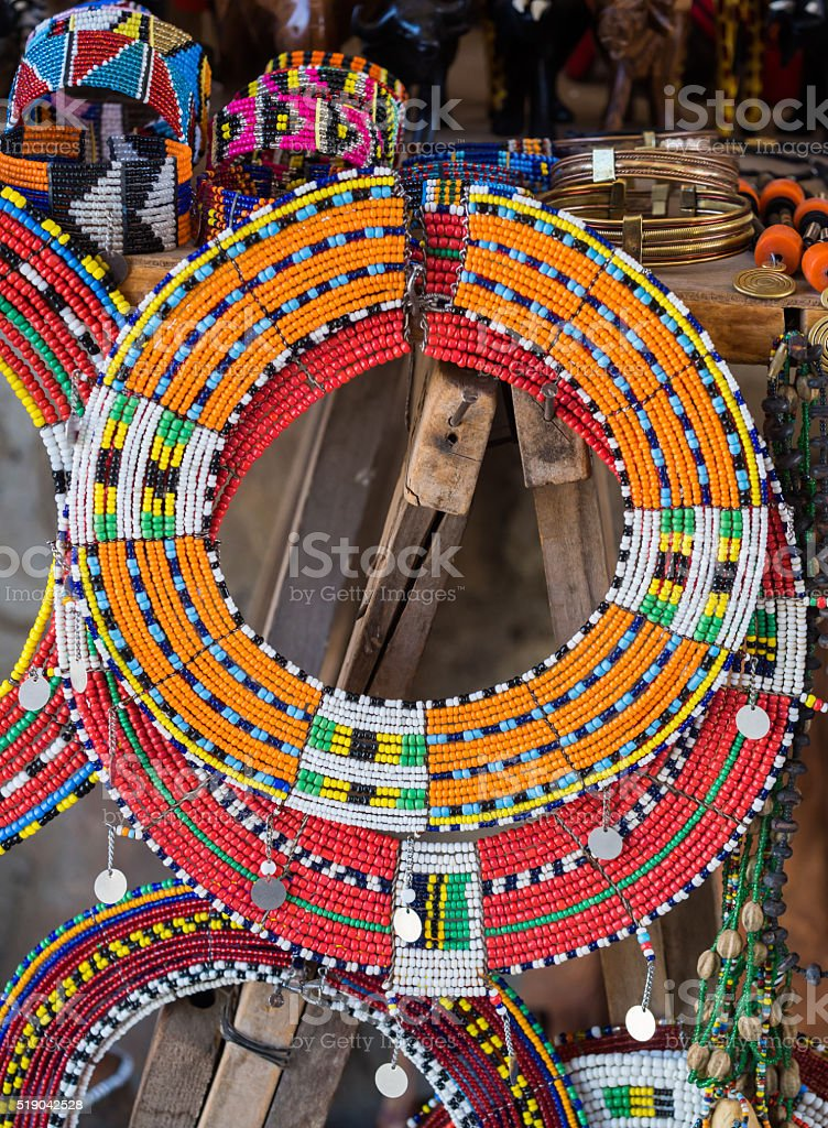 Maasai jewelry stock photo