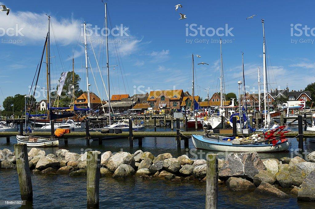 Maasholm Fish Harbour stock photo