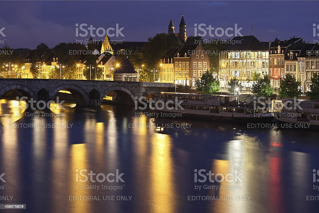 Maastricht at night royalty-free stock photo