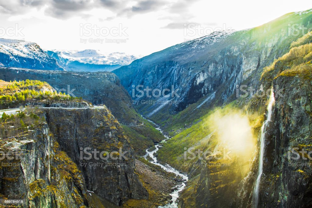 Mabodalen valley, Norway. stock photo