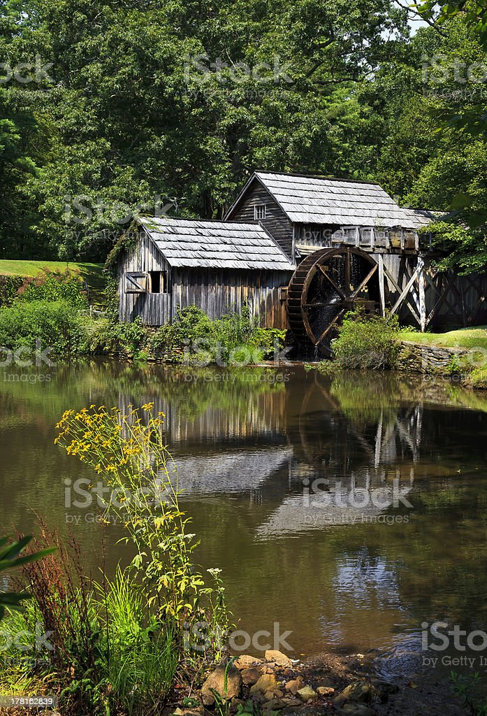 Mabry Mill in the Summer stock photo