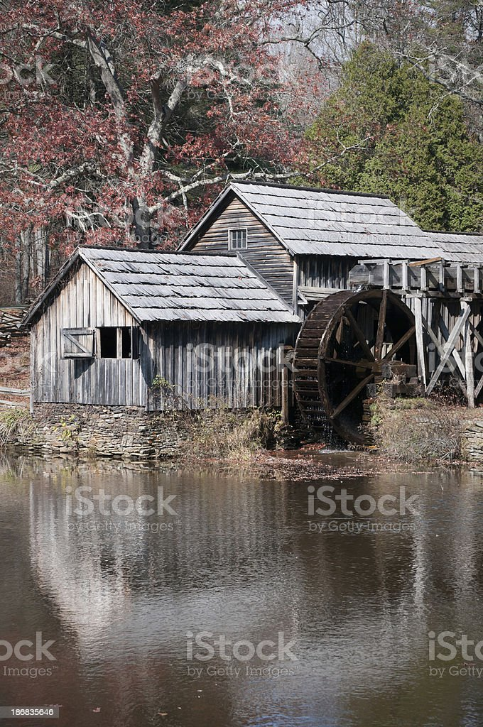 Mabry Mill watermill in the Blue Ridge Mountains royalty-free stock photo