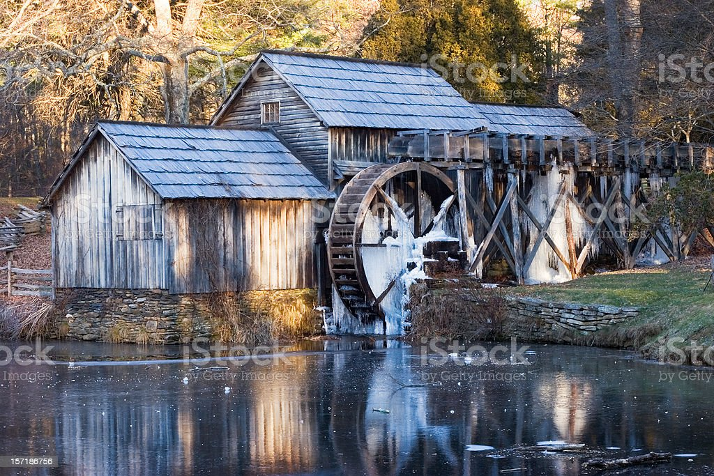 Mabry Mill Winter Morning royalty-free stock photo