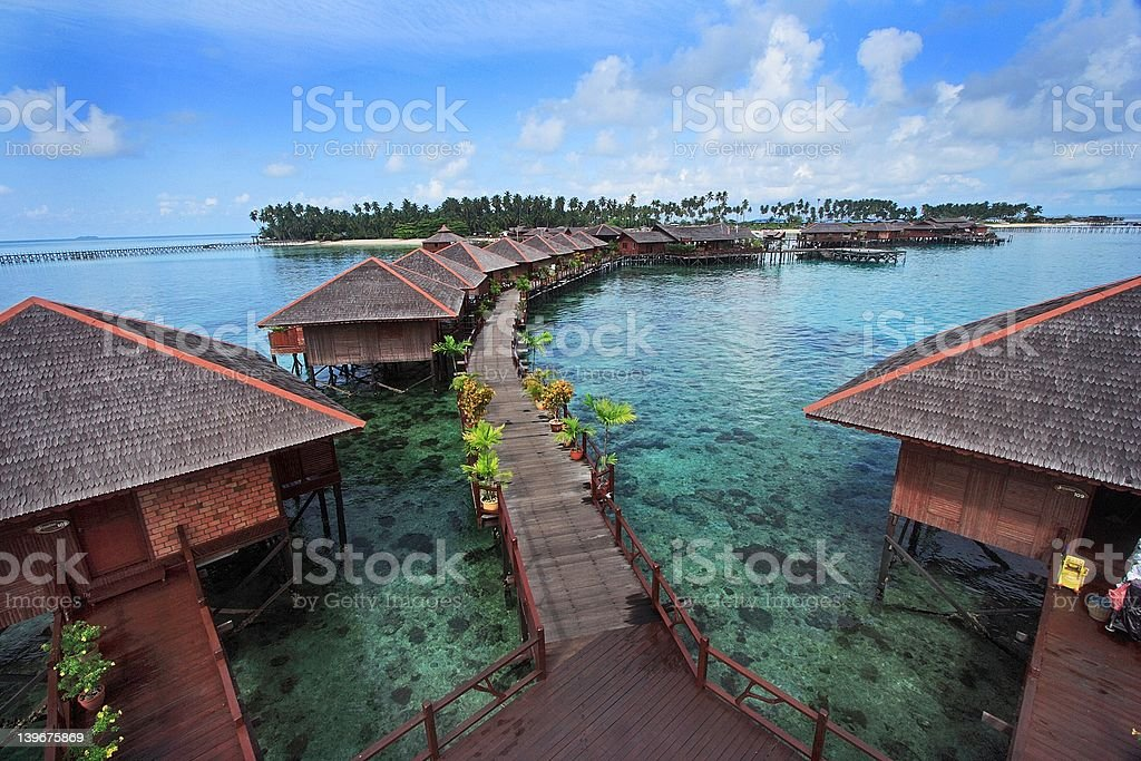 Mabul Island Resort royalty-free stock photo