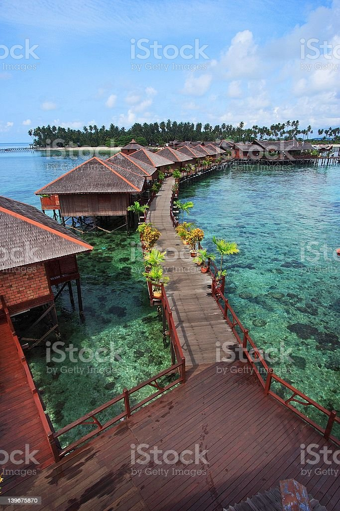 Mabul Island Resort stock photo