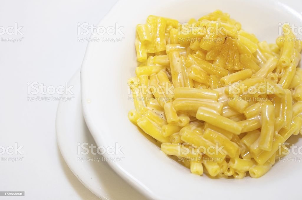 Mac and cheese royalty-free stock photo