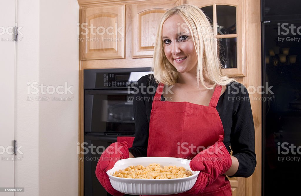 Mac & Cheese for Dinner royalty-free stock photo