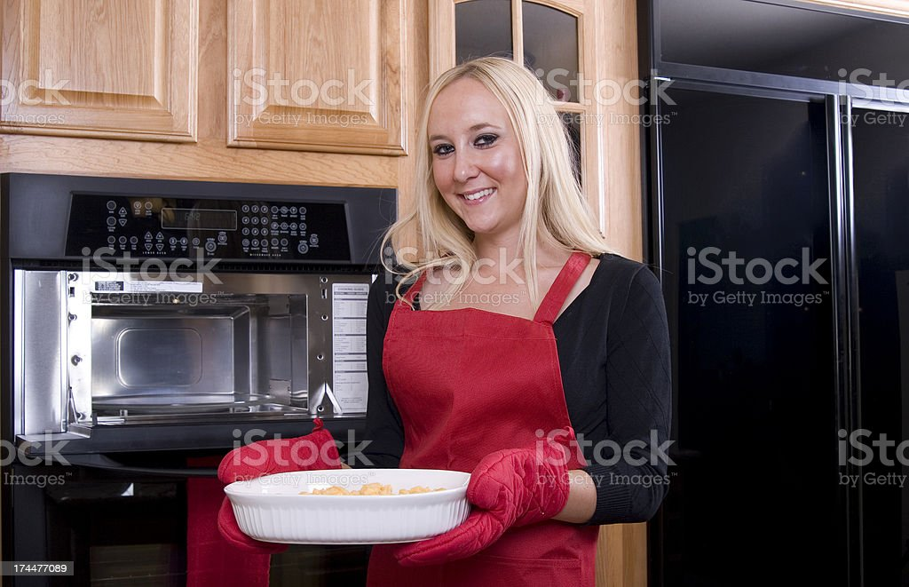 Mac & Cheese for Dinner stock photo