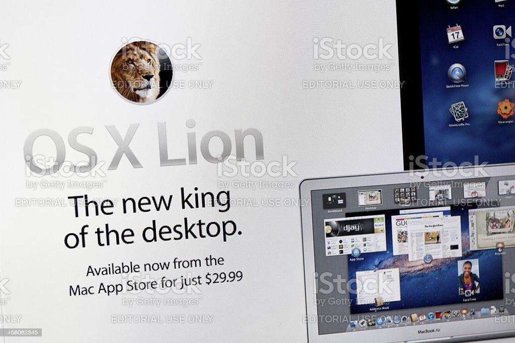 Mac OS X Lion royalty-free stock photo
