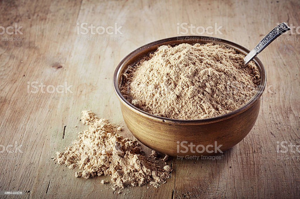 maca powder stock photo