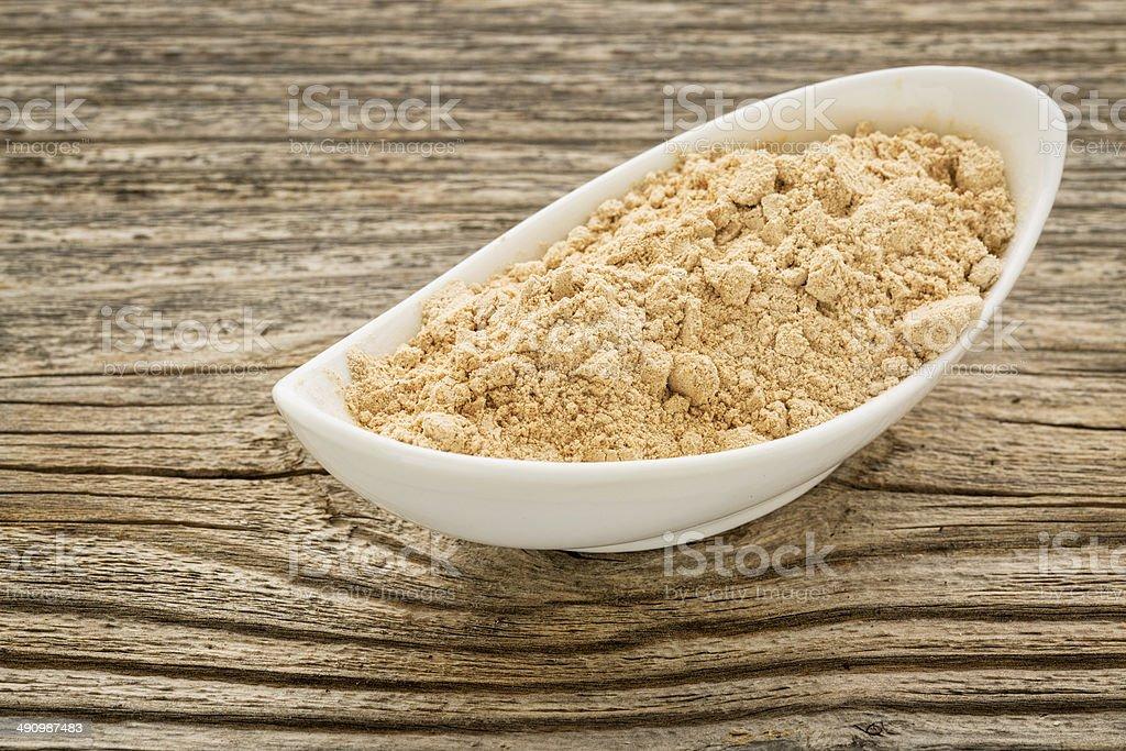 maca root powder i stock photo