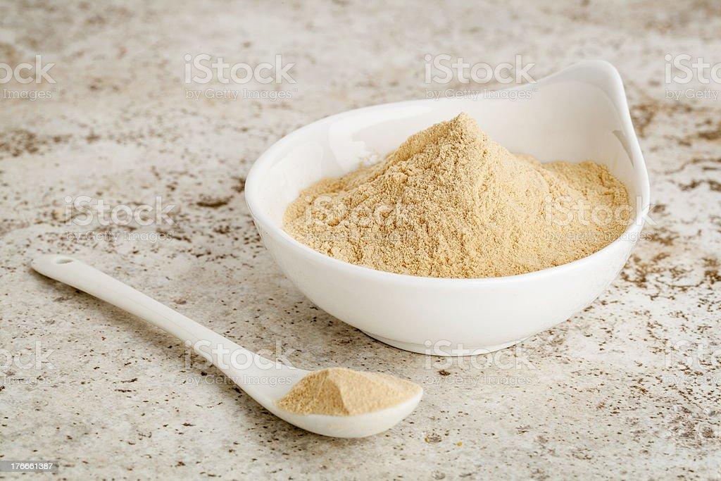 maca root powder stock photo