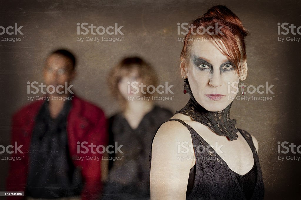 Macabre Mysterious Group stock photo