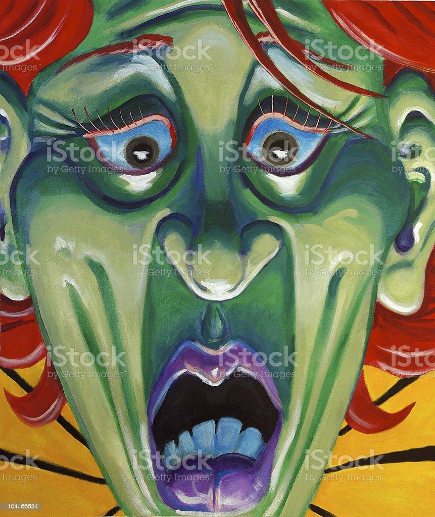 Macabre Scream royalty-free stock photo