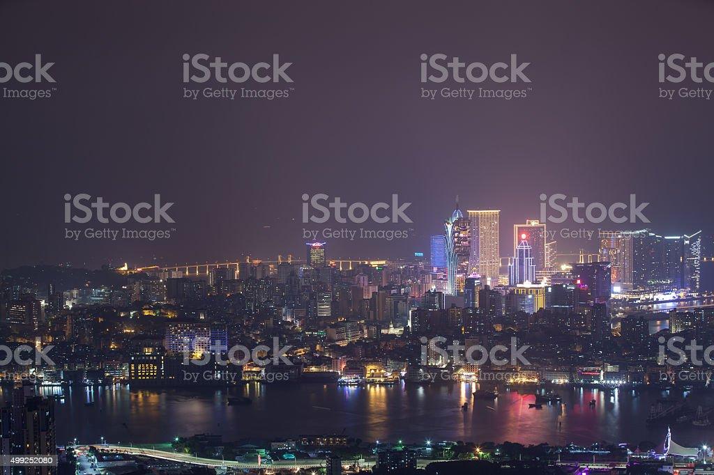 Macao CBD Night stock photo