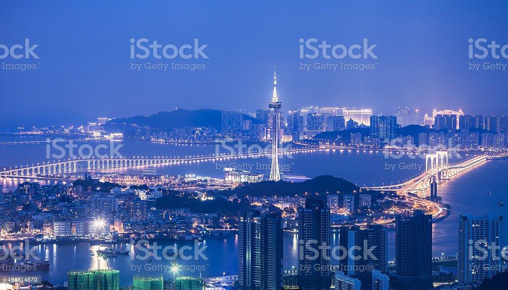 Macao TV Tower  Night stock photo
