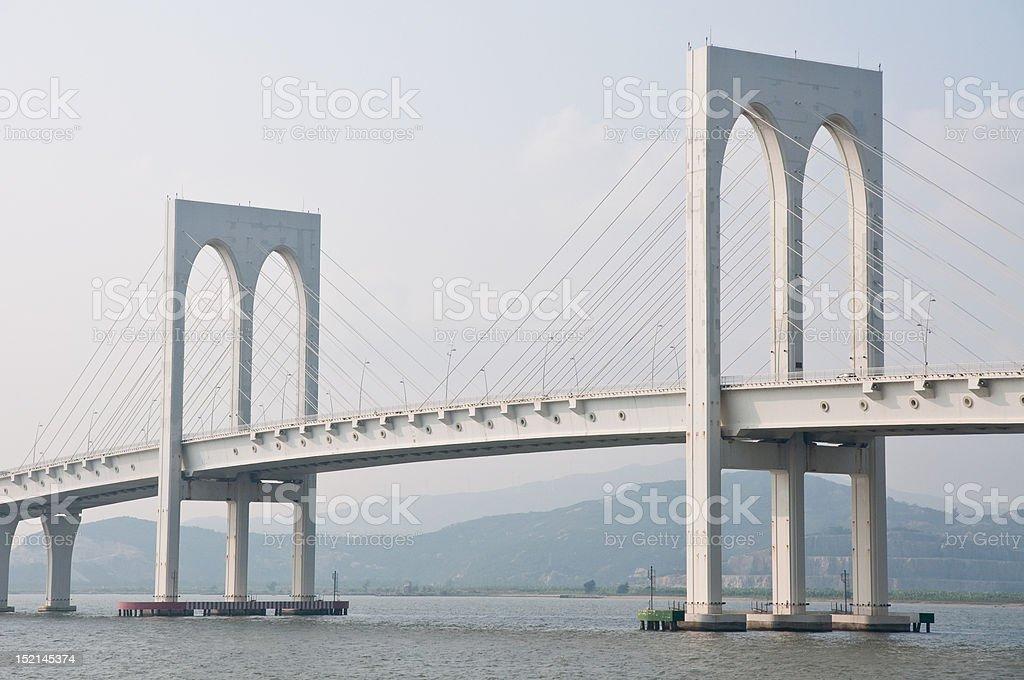 Macao white bridge royalty-free stock photo