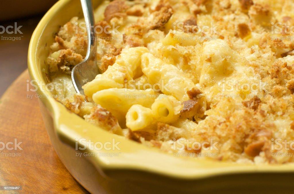 Macaroni and Cheese Casserole royalty-free stock photo