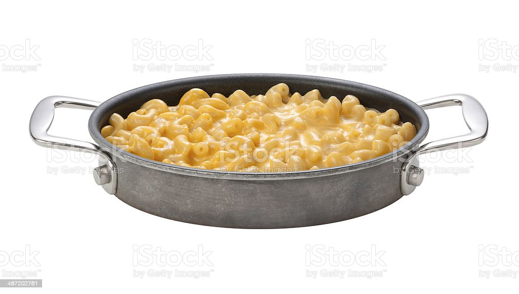 Macaroni and Cheese in a oval pan stock photo