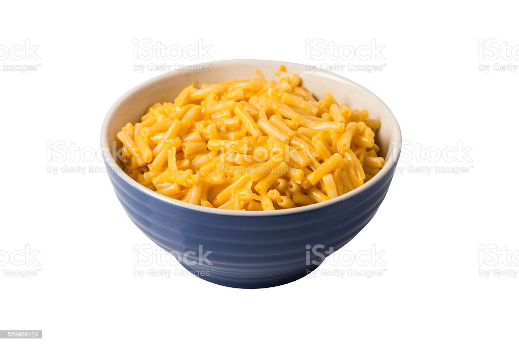Macaroni and Cheese in Bowl stock photo