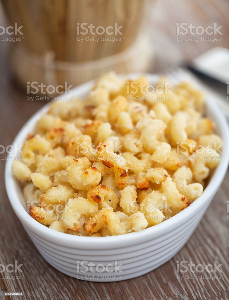 Macaroni and cheese royalty-free stock photo