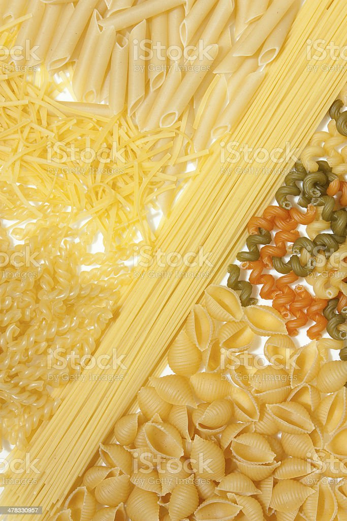 macaroni and spaghetti royalty-free stock photo