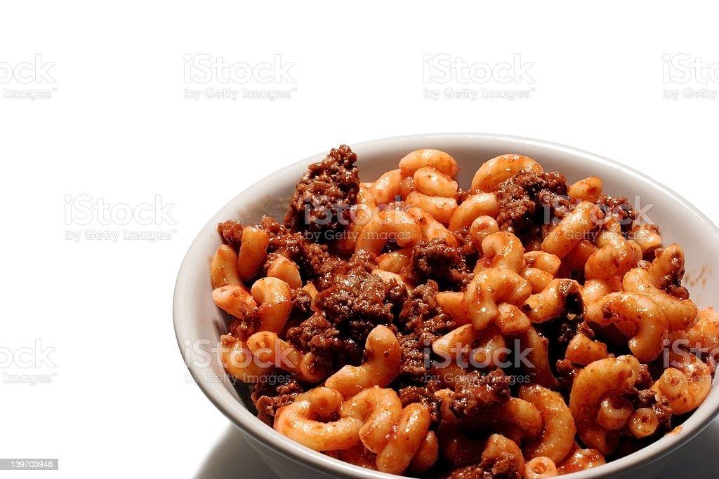 Macaroni Bowl royalty-free stock photo