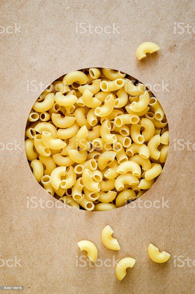 Macaroni durum stock photo