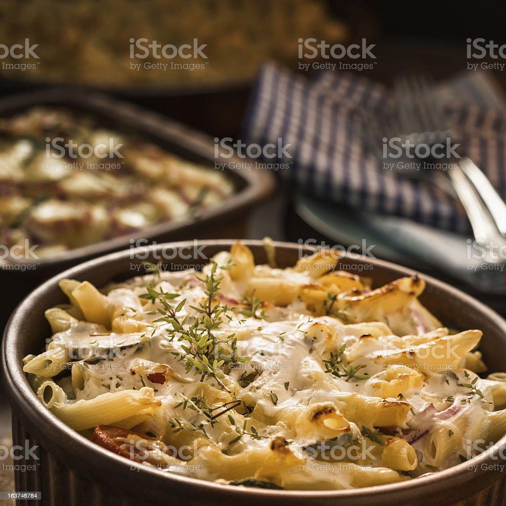 Macaroni Gratin royalty-free stock photo