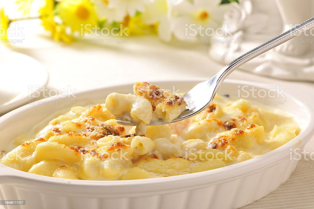 Macaroni gratin stock photo