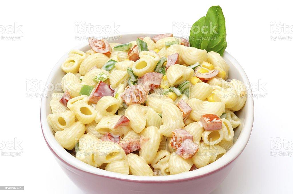 Macaroni salad isolated stock photo