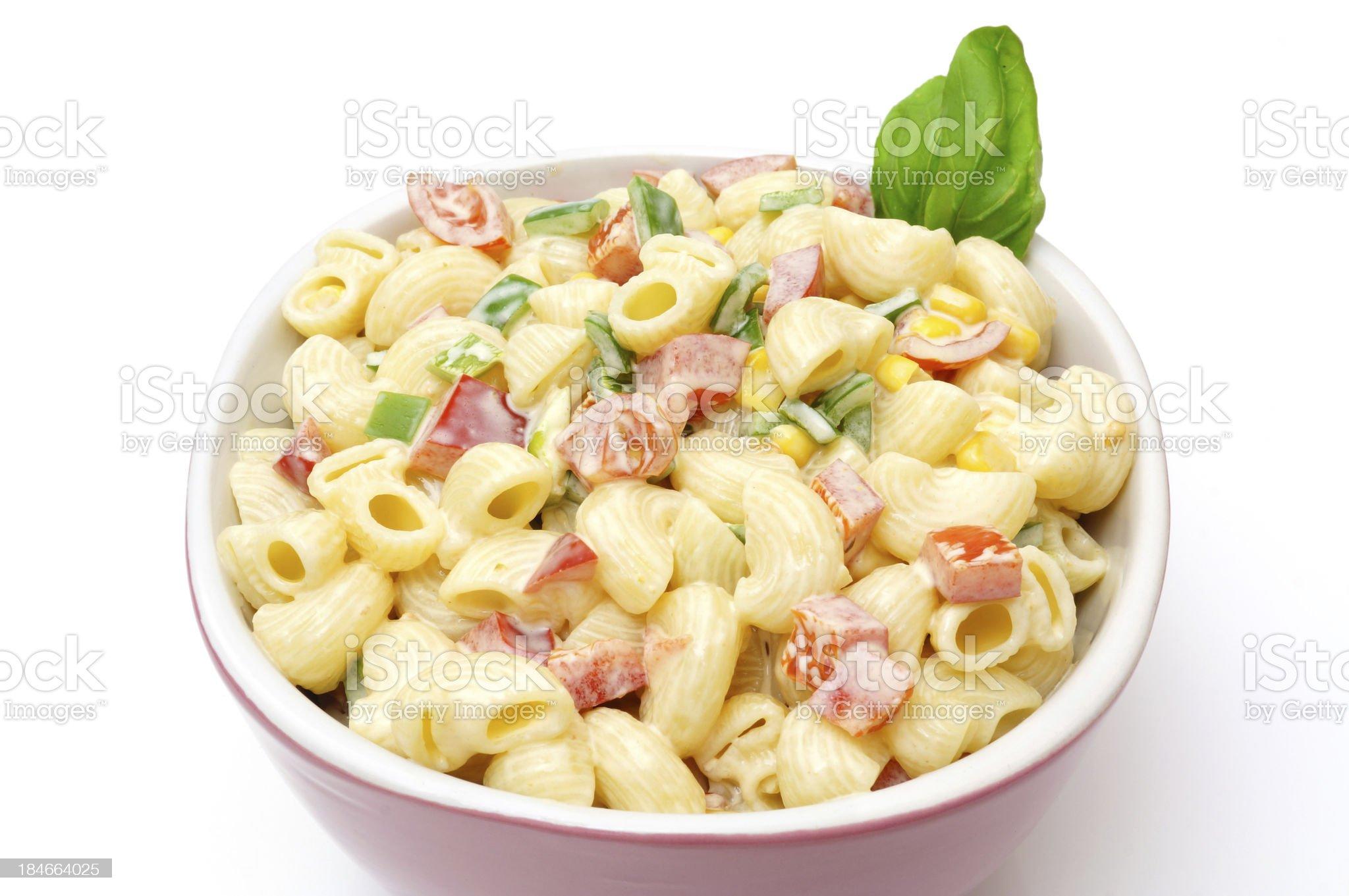 Macaroni salad isolated royalty-free stock photo