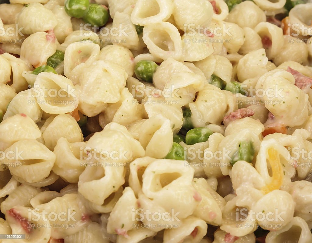 Macaroni Salad Macro stock photo