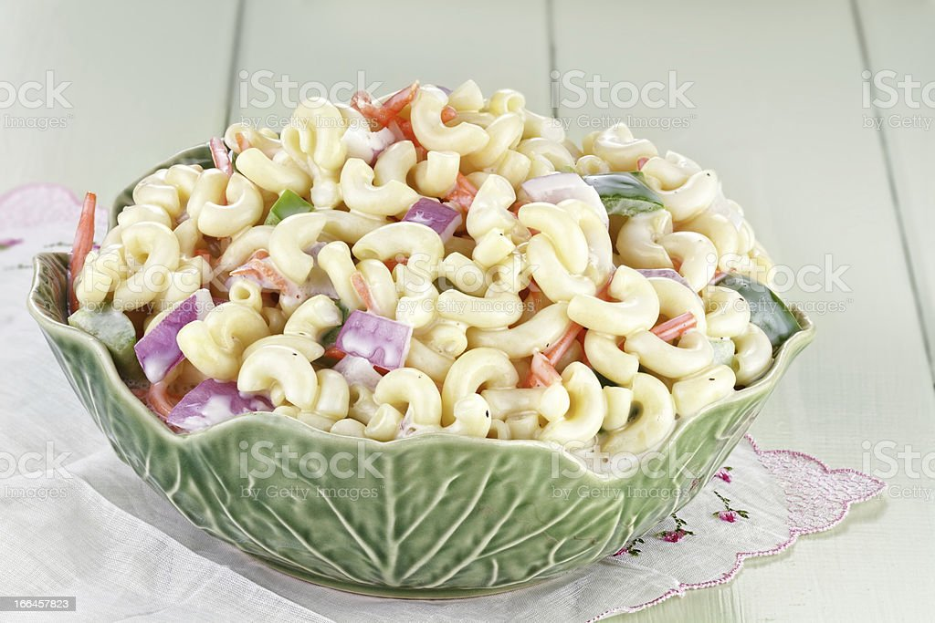 Macaroni Salad stock photo